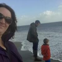 Family photo on Studland beach
