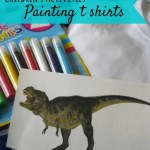 Getting creative – designing and painting t shirts