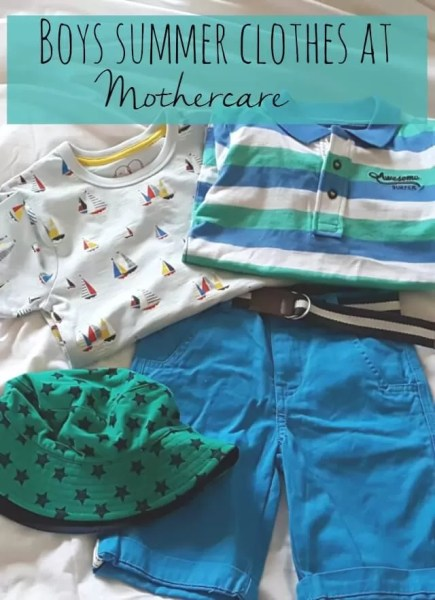 Boys summer clothes at Mothercare - Bubbablue and me