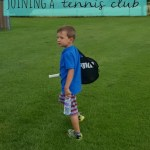 Joining the tennis club and a clingy child