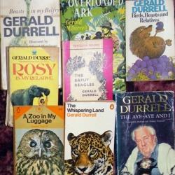 Photo of some of Gerald Durrell's books from my shelves