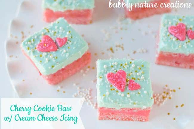 Cherry Cookie Bars with Cream Cheese Icing