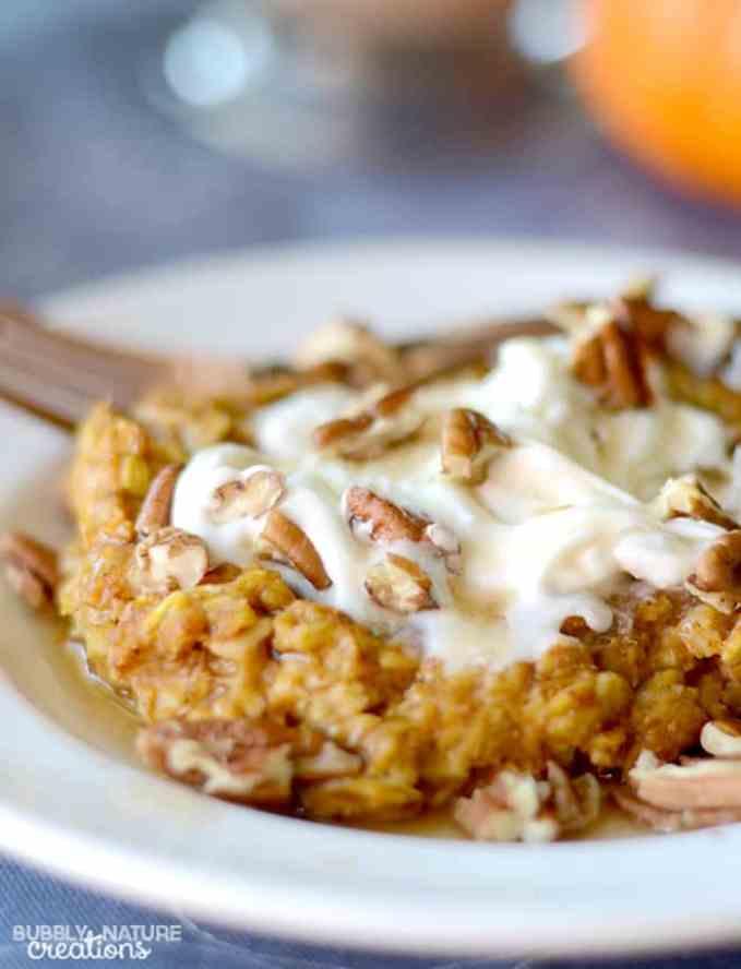 Baked Pumpkin Pie Oatmeal! {THM E} - Sprinkle Some Fun