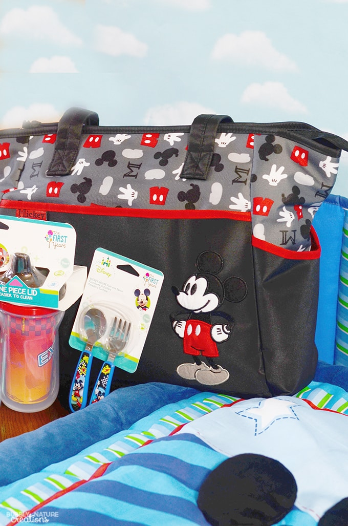 mickey mouse baby shower ideas and supplies diaper bag and sippy