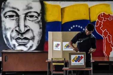 La imagen de Chávez sigue omnipresente