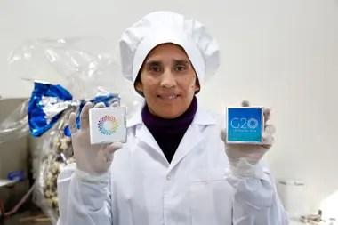 Albricias, es una fundación y chocolatería. Elaboran los chocolates que servirán de recuerdo para la cumbre del G20