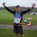 Gary Kelly after completing his 100th marathon 2013