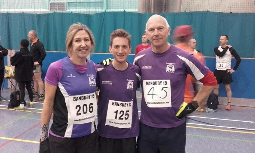 Debbie, James and Chris prior heading off to the start