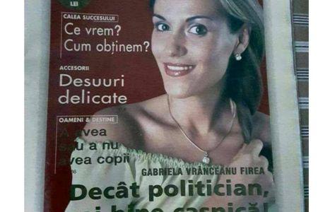 Gabriela Firea, inainte sa il cunoasca pe Pandele: Decat POLITICIAN, mai bine casnica!