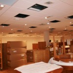Updating a retail space for new tenants.