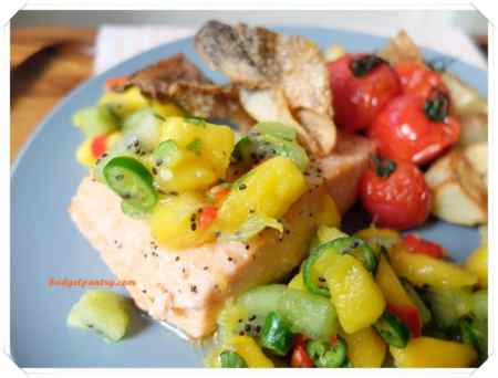 March 14- Mango Salsa Salmon with Crispy Skin airfryer