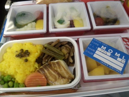 In-flight halal foods served during my recent trip to Japan. Thanks you, Japan Airlines!