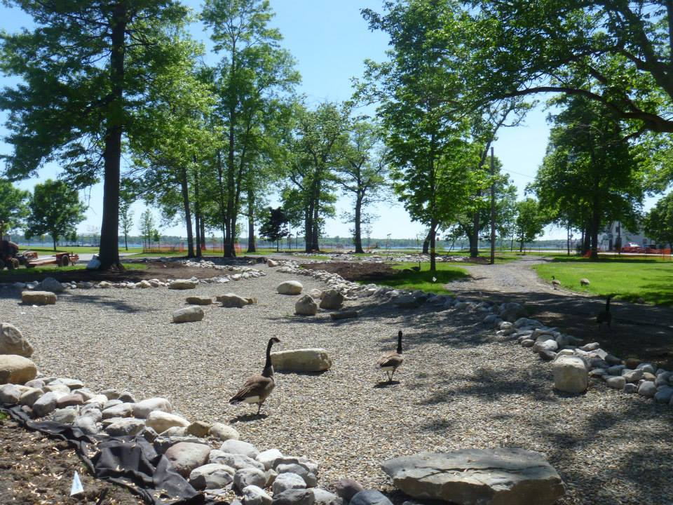 Olmsted s riverrock gardens is unveiled buffalo rising for Landscaping rocks buffalo ny
