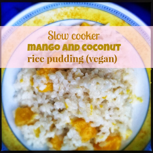 Slow Cooker Mango And Coconut Rice Pudding