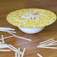 Homemade Game: Balance the Popsicle Sticks