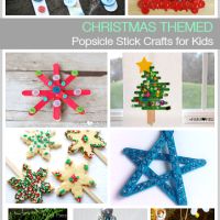 10+ Christmas Themed Popsicle Stick Crafts for Kids