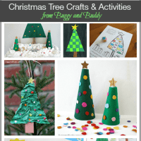 10+ Christmas Tree Crafts and Activities for Kids