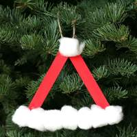 Santa Hat Homemade Christmas Ornament