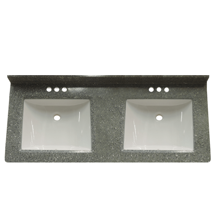 The Boulder 22 X 61 Double Bowl Cultured Marble Vanity Topis A Granite  Cultured Marble Vanity