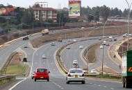A view of the newly built Thika SUperhighway at the Roosters/EABL section