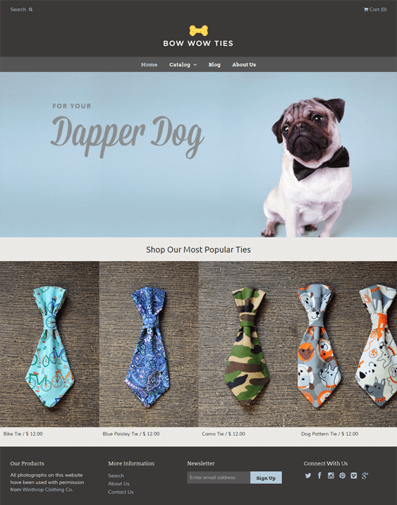 bow ties flat shopify theme