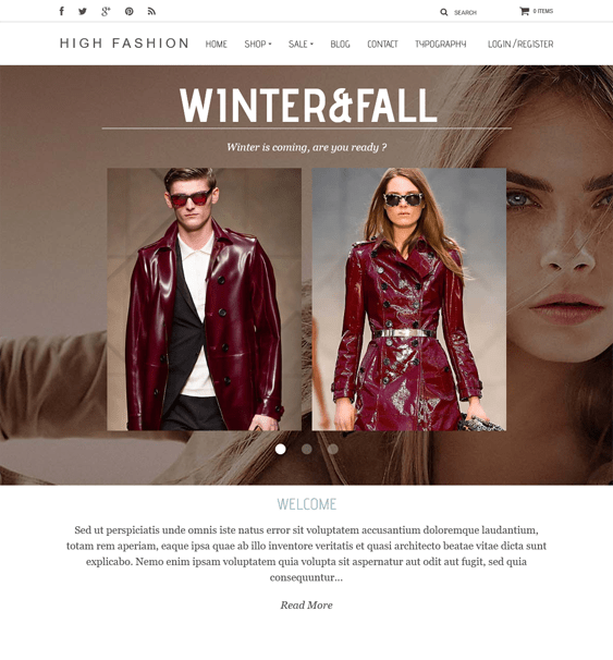 high fashion parallax shopify theme