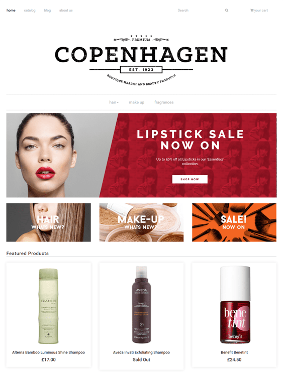 envy shopify themes health beauty products