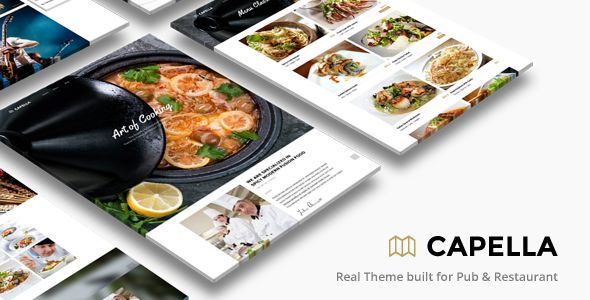 Capella Parallax Cafe And Restaurant Theme by ThemeGoods (WordPress theme)