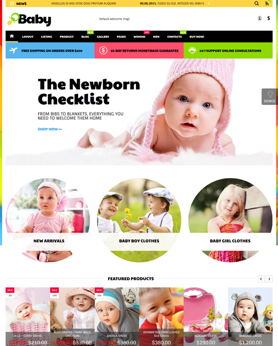 coolbaby kids shopify themes