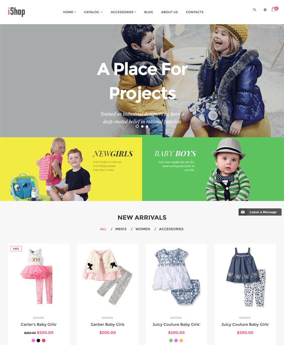 ishop kids shopify themes