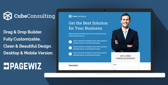 Cube Consulting by Demustang (landing page template for PageWiz)