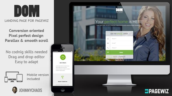 DOM by Johnnychaos (landing page template for PageWiz)