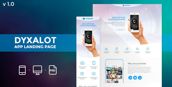 Dyxalot by Zular (landing page template for PageWiz)