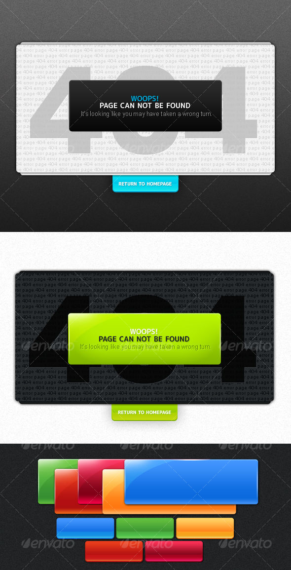 Error Page Design by AddtoFavorites (layered 404 page template)