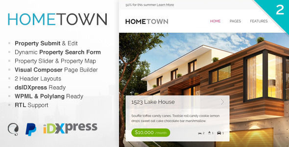 Hometown by LeafThemes (real estate and realtor WordPress theme)
