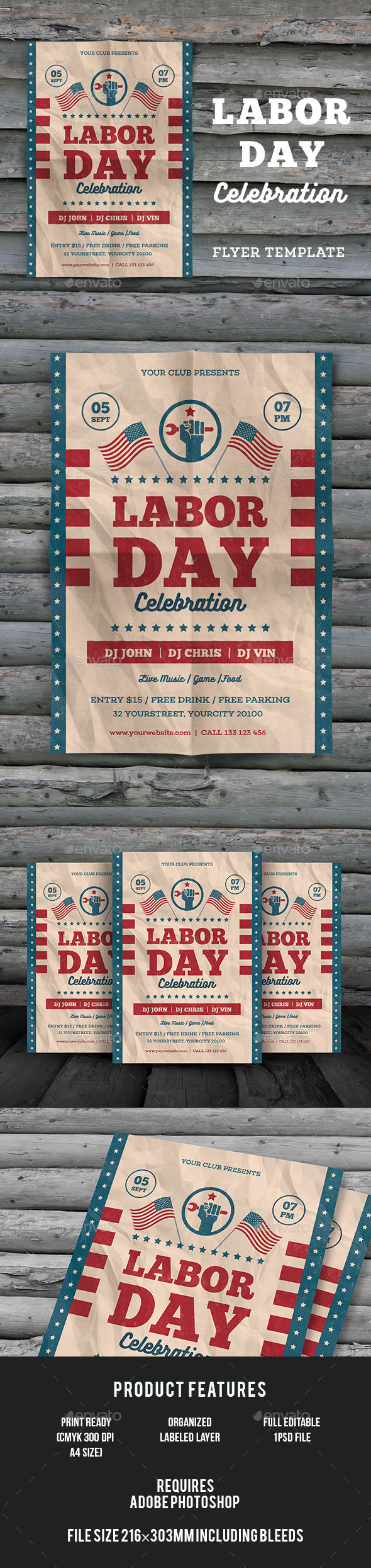 Labor Day Flyer by Infinite78910 (Labor Day party flyer)
