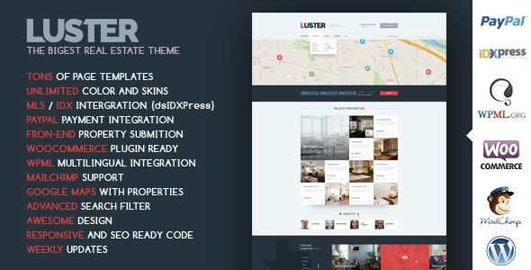 Luster by CRIK0VA (real estate and realtor WordPress theme)