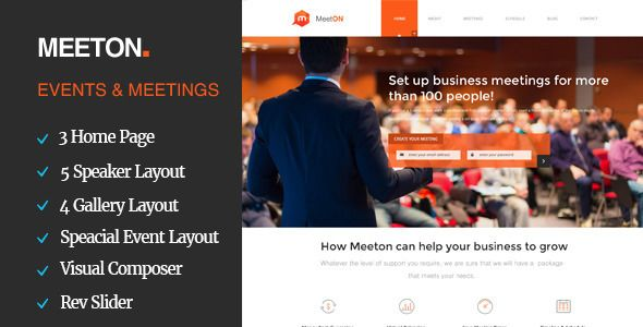 Meeton by Template_path (event & conference WordPress theme)
