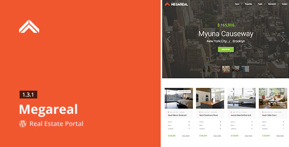 Megareal by Aviators (real estate and realtor WordPress theme)