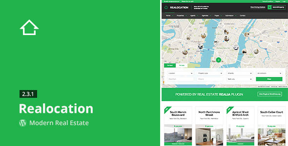 Realocation by Aviators (real estate and realtor WordPress theme)