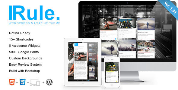 Rule by ZERGE (WordPress theme with infinite scrolling)