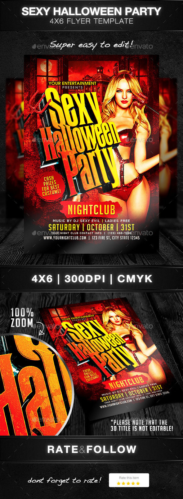 Sexy Halloween Party by DesignsByDior (Halloween party flyer)