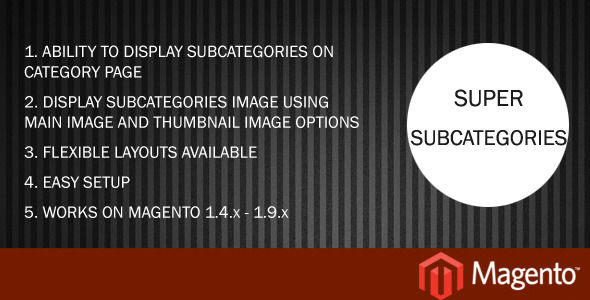 Super Subcategories by Ravir (Magento extension)