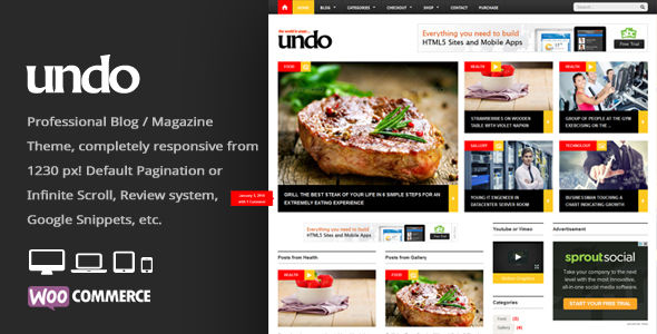 Undo by An-Themes (WordPress theme with infinite scrolling)