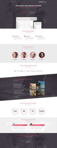 Fortune - PageWiz Mobile App Template