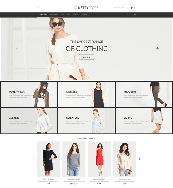 apparel clothing shoes accessories virtuemart themes