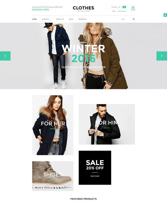 clothes clothing shoes accessories virtuemart themes