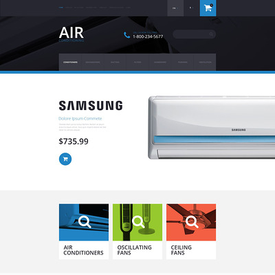Air Conditioning OpenCart Template (OpenCart theme for home improvement and consttruction supply stores) Item Picture