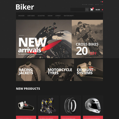 Biker's Store Magento Theme (Magento theme for car, automotive, and vehicle stores) Item Picture