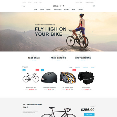Bikerita PrestaShop Theme (PrestaShop themes for bicycles and cycling equipment) Item Picture